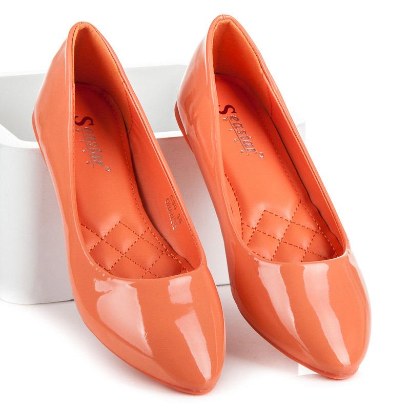 8bba81f9c655 Dámske štýlové oranžové lakované balerínky - Dámske prádlo a doplnky