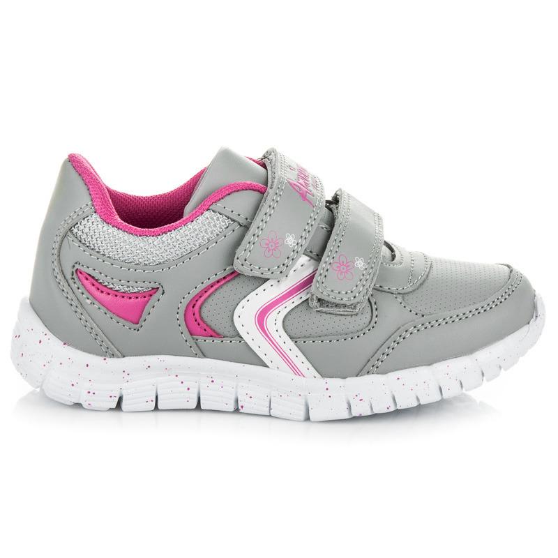 bda814dc96 Detské športové šedé topánky na suchý zips - Dámske prádlo a doplnky