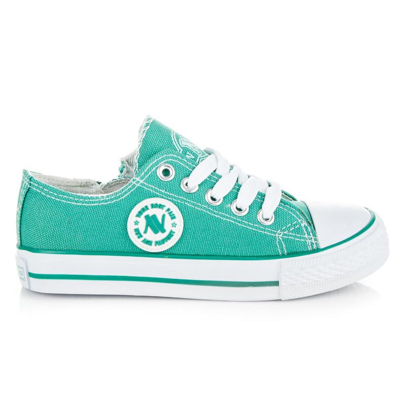 Detské zelené klasické textilné tenisky - Dámske prádlo a doplnky 5cba8d1bf3d