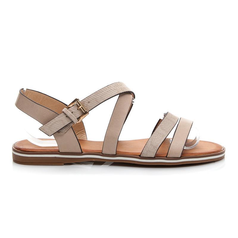 b52d0a5b6389 Dokonalé béžové dámske sandále - Dámske prádlo a doplnky