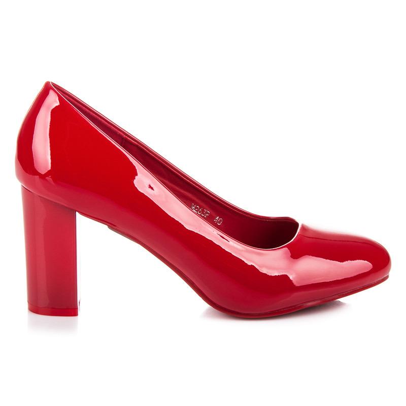 88a34c8999 Elegantné červené lakované lodičky na podpätku - Dámske prádlo a doplnky