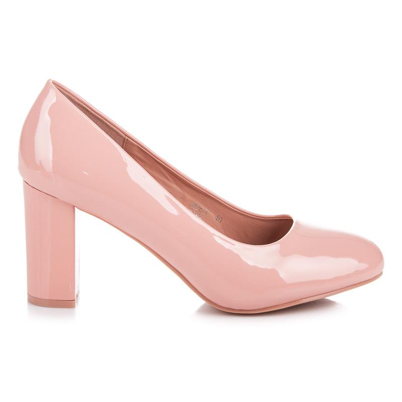 c4b04d504c Elegantné ružové lakované lodičky na podpätku - Dámske prádlo a doplnky