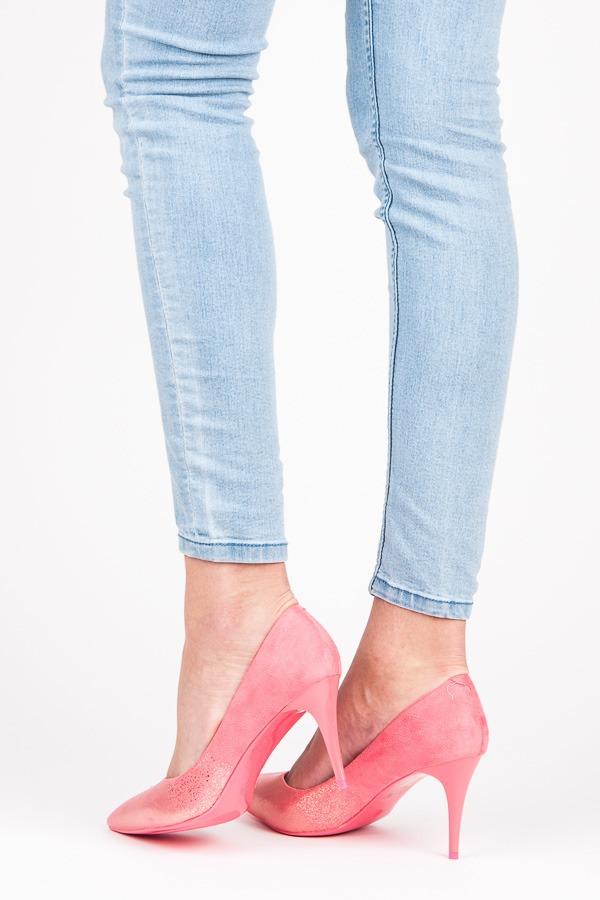 b8a21ea8cf Elegantné semišové ružové lodičky na ihlovom podpätku - Dámske ...