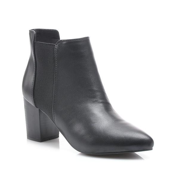 ec82b1b8ca66 Jesenné čierne členkové topánky - Dámske prádlo a doplnky