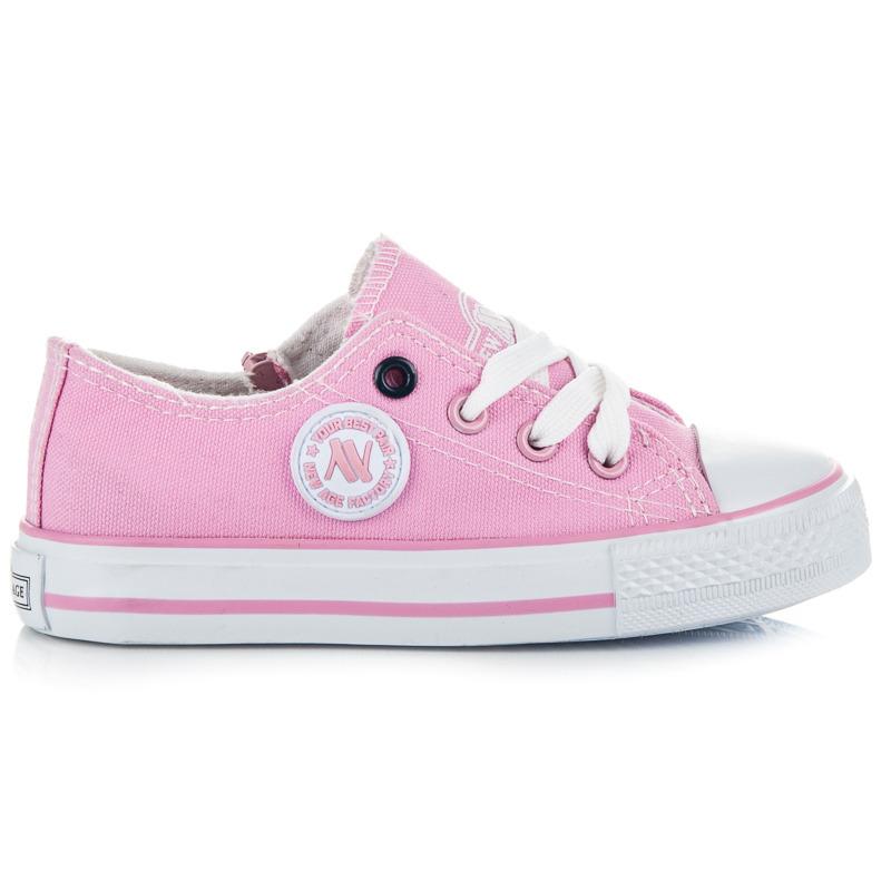2482efe4ae65 Klasické ružové detské tenisky na šnurovanie - Dámske prádlo a doplnky