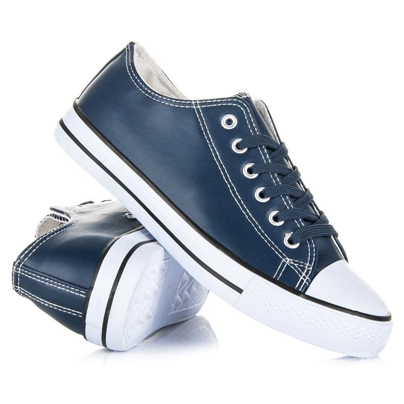 fa9fc2b450441 Klasické tmavo modré tenisky na bielej podrážke - Dámske prádlo a ...