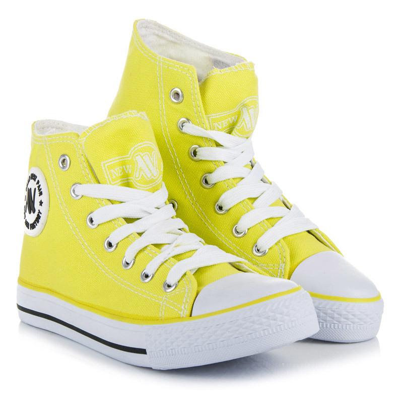 8334c080ba Klasické žlté šnurovacie členkové tenisky - Dámske prádlo a doplnky