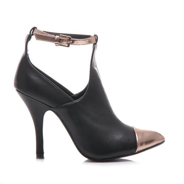 8f47d47f8579 Krásne čierne členkové topánky s zdobenou špicou - Dámske prádlo a ...
