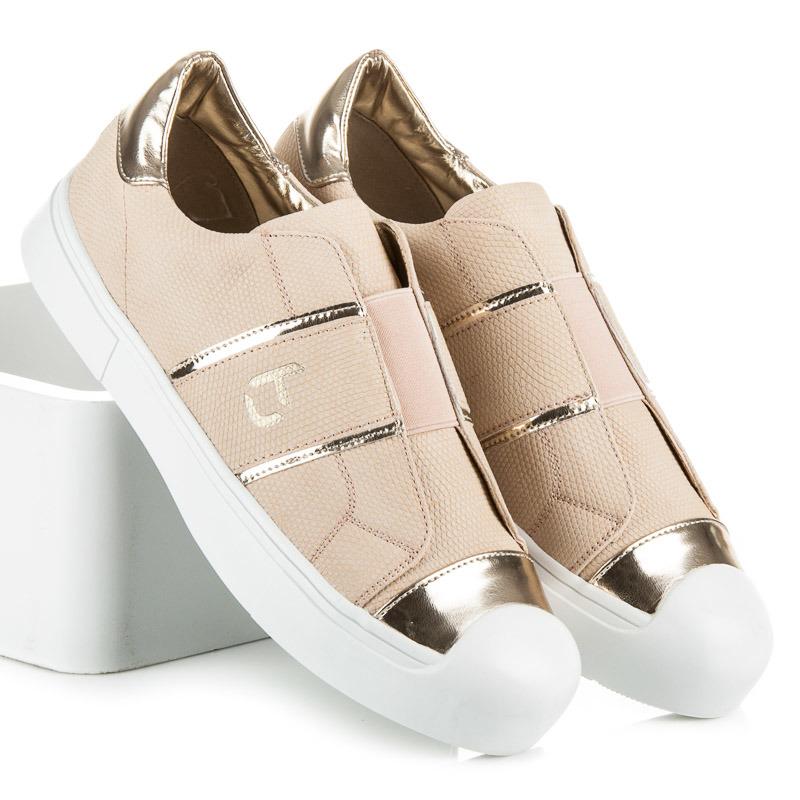 92a20cc1aa Luxusné béžové tenisky v originálnom dizajne - Dámske prádlo a doplnky