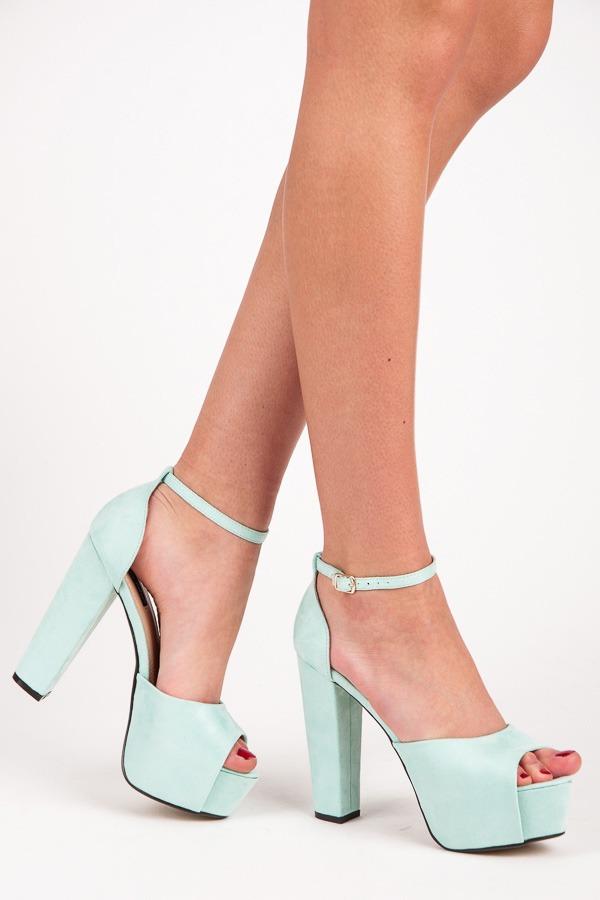aa21eb612984 Luxusné modré semišové sandále na platforme - Dámske prádlo a doplnky