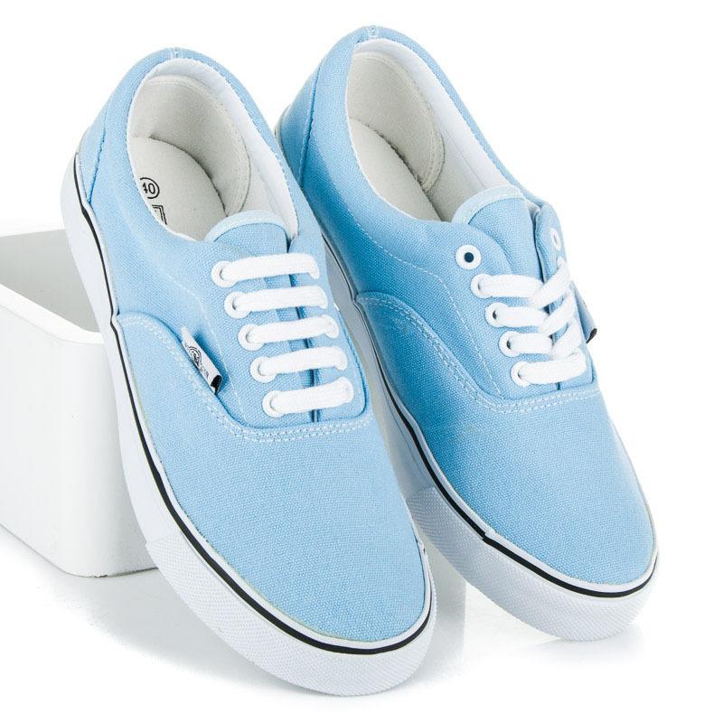 d51b7d772f3b5 Luxusné modré tenisky s bielou podrážkou - Dámske prádlo a doplnky