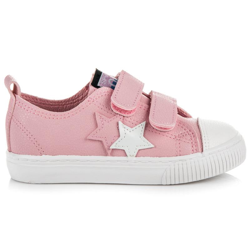 Luxusné ružové detské tenisky s hviezdičkami - Dámske prádlo a doplnky 0db779df9cf