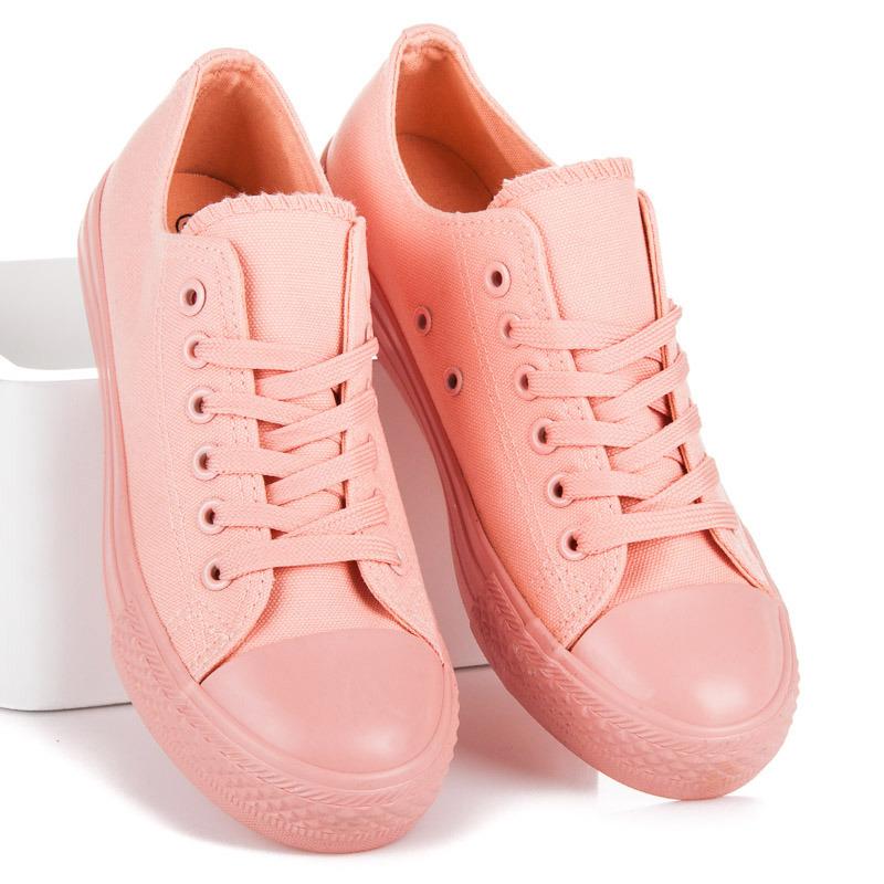 fa032f228 Luxusné ružové tenisky na šnurovanie - Dámske prádlo a doplnky