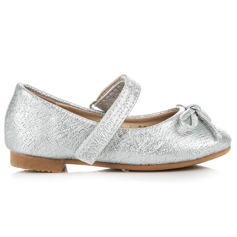 c6f856aa1ac Luxusné strieborné trblietavé detské baleríny s gumičkou - Dámske ...