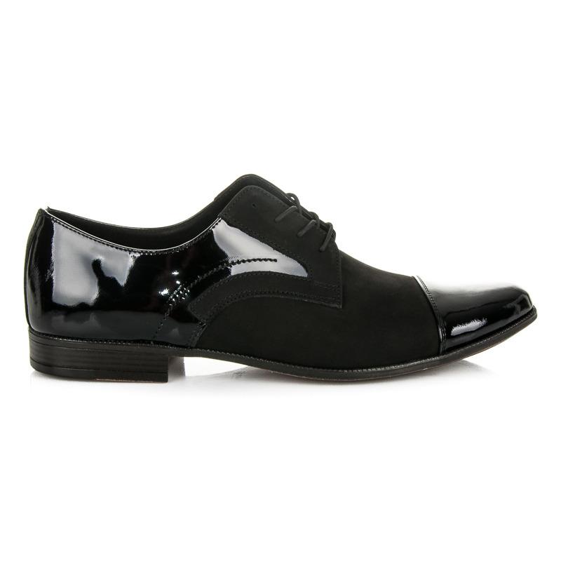 b56ed70e03cb Moderné pánske čierne lakované poltopánky - Dámske prádlo a doplnky