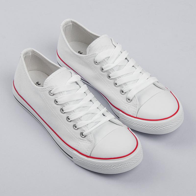 Nádherné biele dámske tenisky na šnurovanie - Dámske prádlo a doplnky df5f4fd0371
