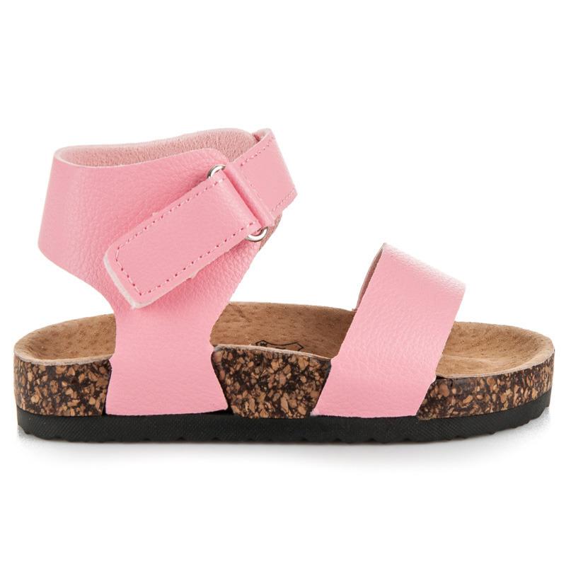 702045873525 Originálne ružové dievčenské sandále na korkovej podrážke - Dámske ...