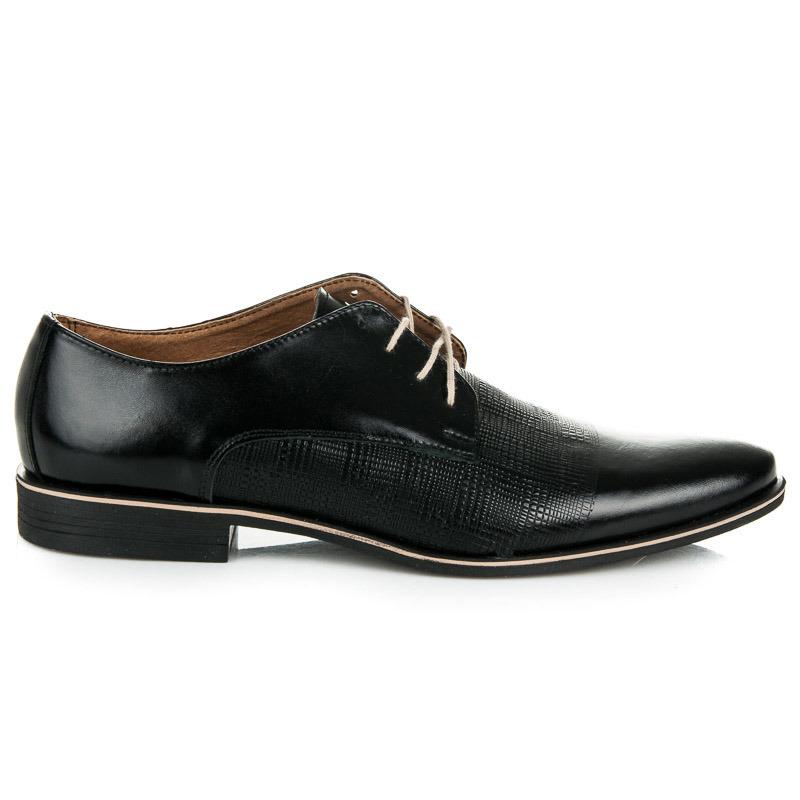 b06ee879cd1d Pánske lesklé čierne poltopánky z prírodnej kože - Dámske prádlo a ...