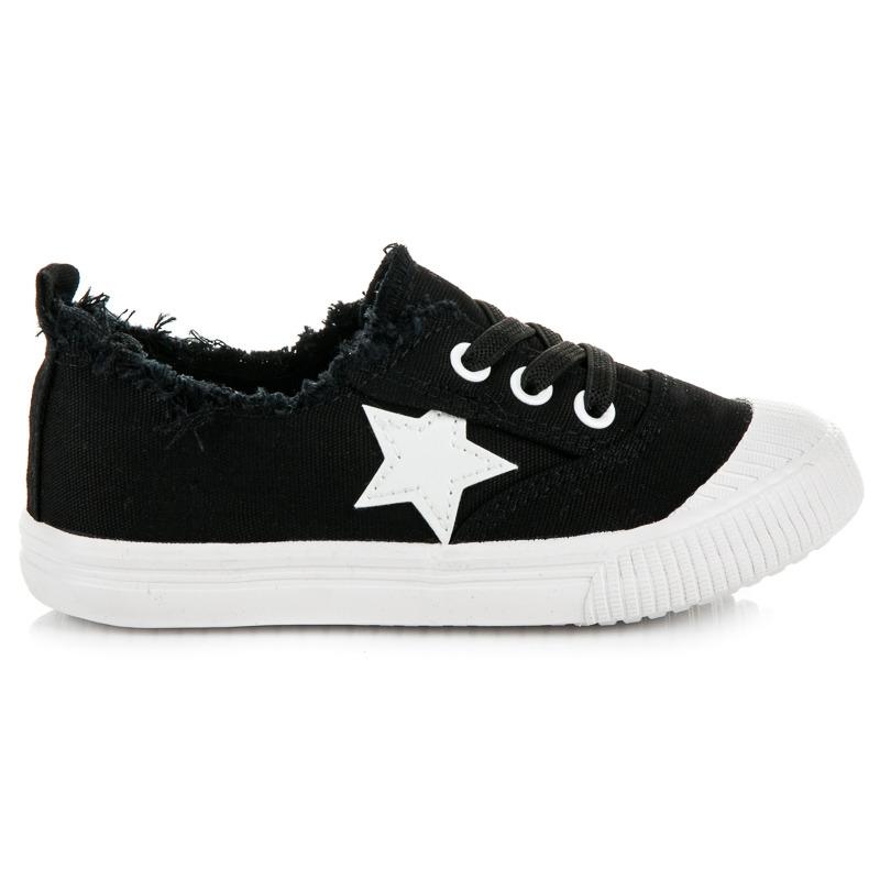 9185fe0b2e Perfektné čierne detské tenisky s hviezdičkou - Dámske prádlo a doplnky