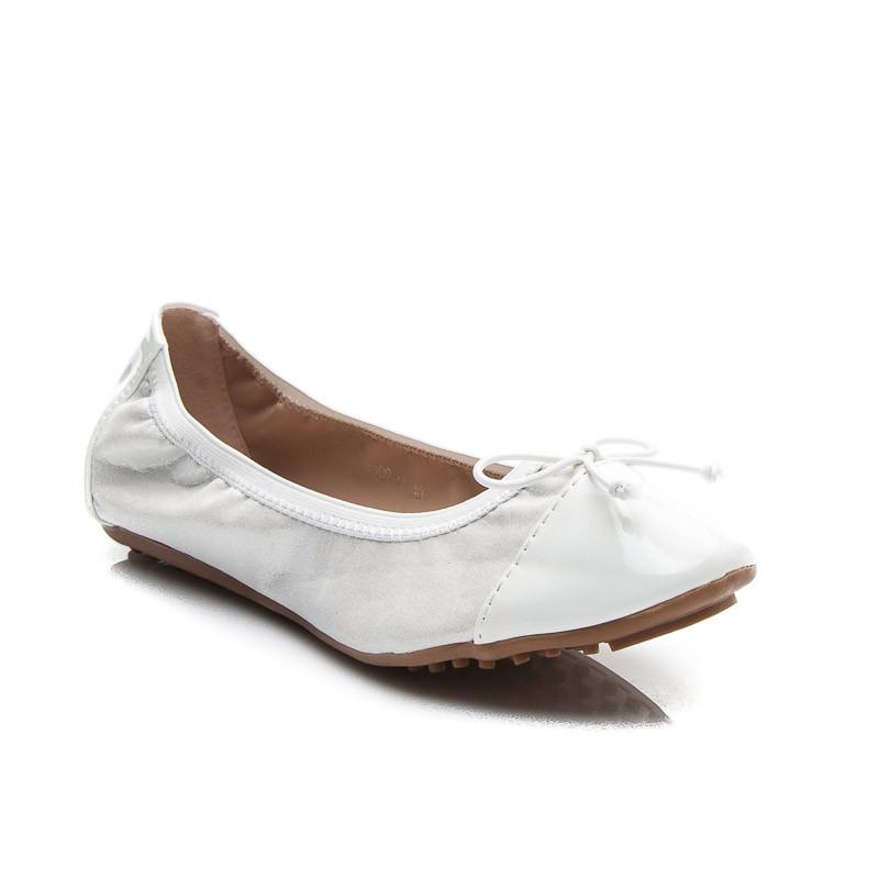 86236b57e Pohodlné biele dámske balerínky - Dámske prádlo a doplnky