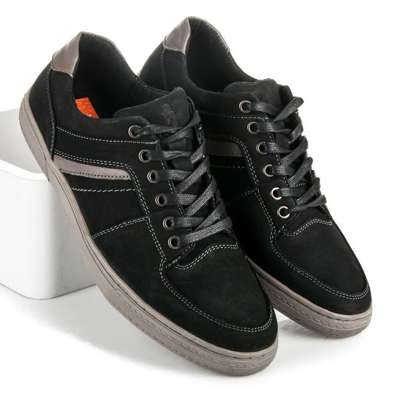 Pohodlné čierne pánske športové tenisky - Dámske prádlo a doplnky 685ae416a12