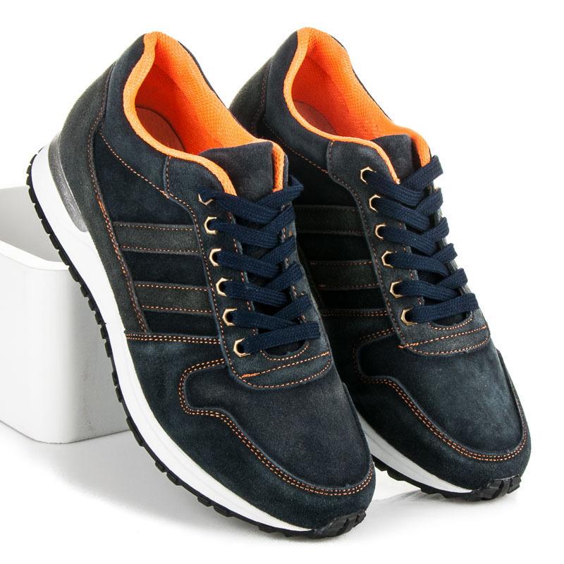 28cc9fceaeb2 Pohodlné modré pánske športové topánky - Dámske prádlo a doplnky