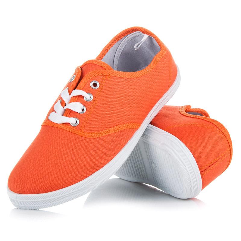 Pohodlné oranžové tenisky na jar i leto - Dámske prádlo a doplnky 79deb881ae