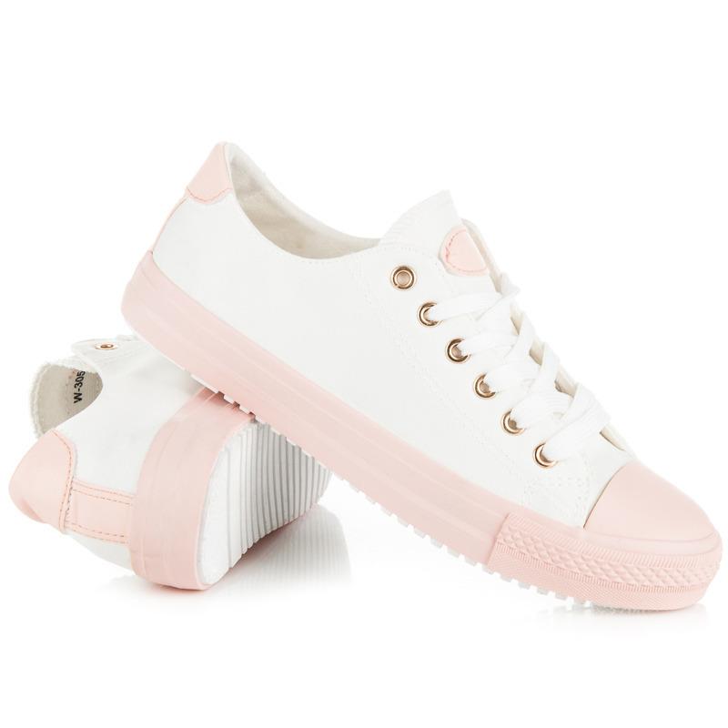 d3ad5c3227 Senzačné biele tenisky na ružovej platforme - Dámske prádlo a doplnky