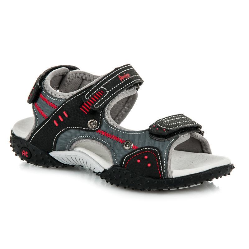 Skvelé detské letné čierne sandále na suchý zips - Dámske prádlo a ... ed0c636ef8d
