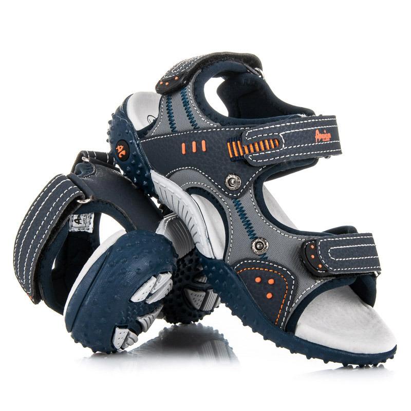 Skvelé detské letné modré sandále na suchý zips - Dámske prádlo a ... 2d79f384407