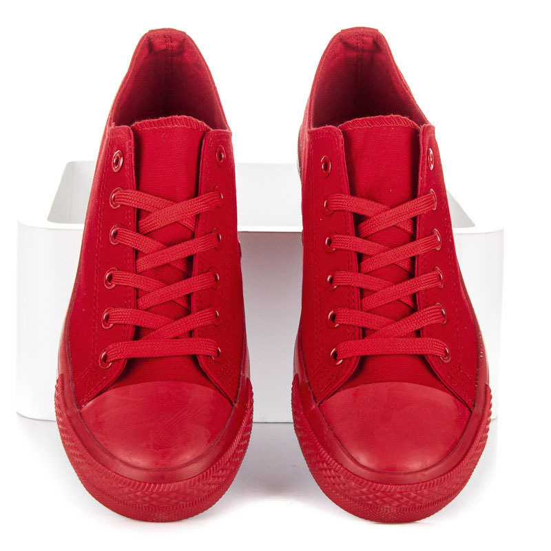 f67546beb7 Štýlové červené tenisky z textilného materiálu - Dámske prádlo a doplnky