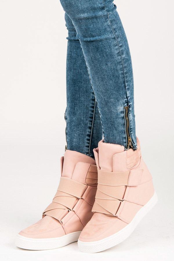 0b9674032e5f Trendy ružové tenisky na suchý zips - Dámske prádlo a doplnky